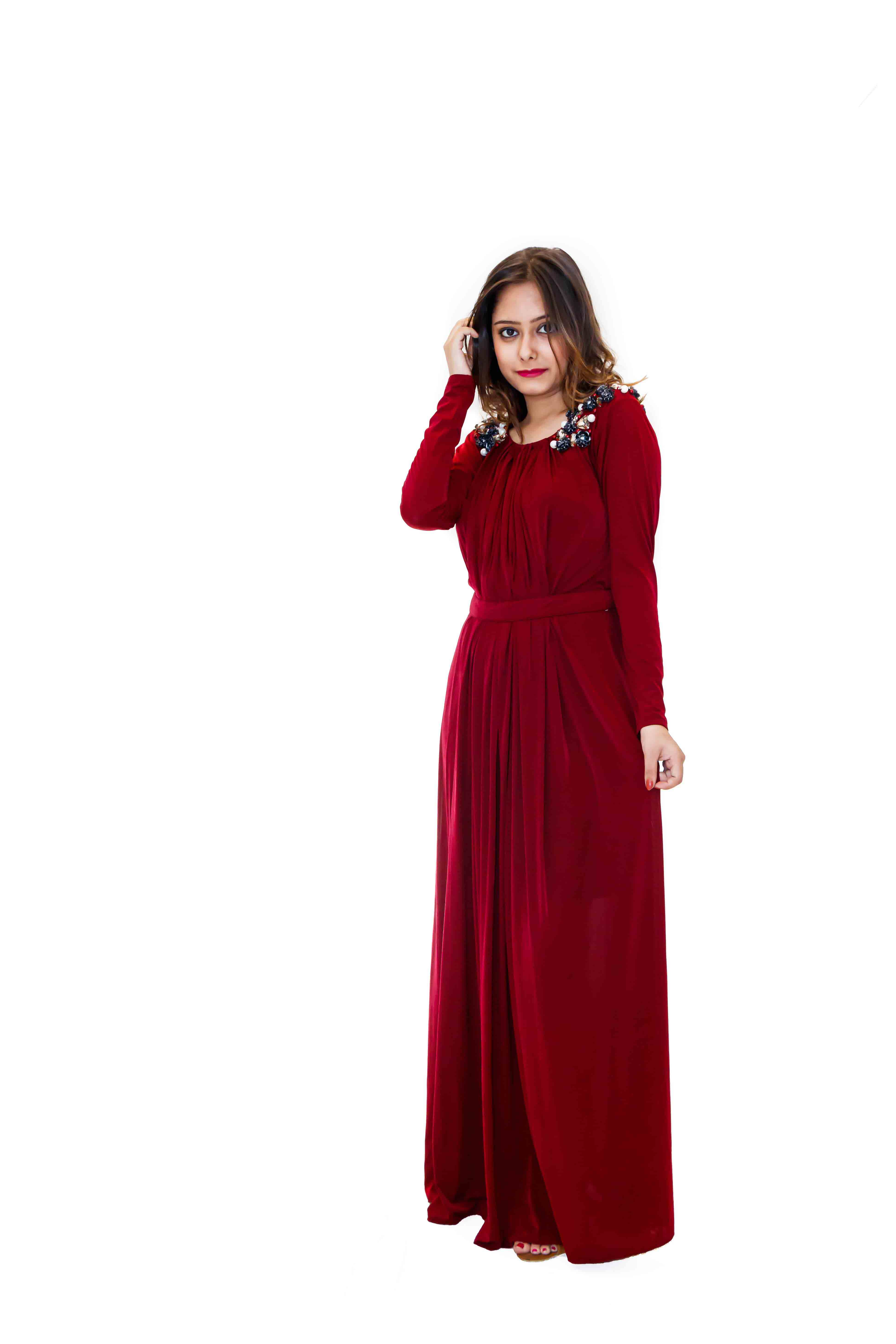 Maroon Gown - 9743